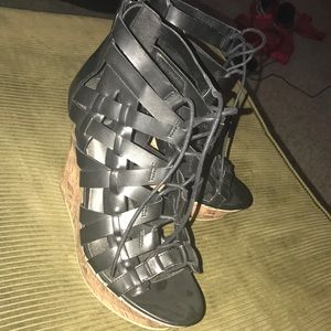 Guess lace up wedges!